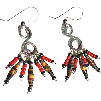 French Hook Handmade Paperbead Earrings