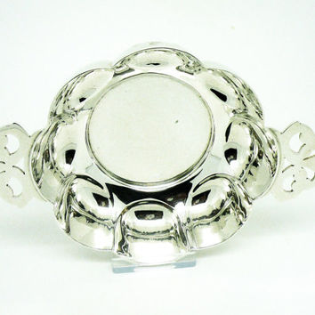 Solid Silver Quaich, Sterling, Sanders Family Crest, Antique, English, Edwardian, Dish, Hallmarked London 1904, REF:256 - 256T