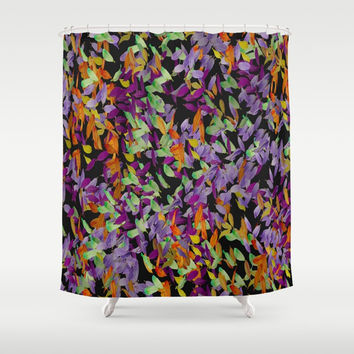 Autumn Petals Shower Curtain by Colorful Art