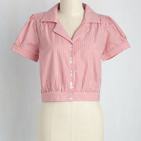 Needed Nostalgia Top | Mod Retro Vintage Short Sleeve Shirts | ModCloth.com
