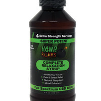Hemp Bomb Cbd Syrup - 4 Oz Bottle
