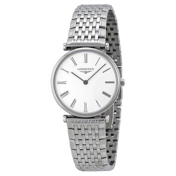 Longines La Grande Automatic White Dial Stainless Steel Mens Watch L45124116