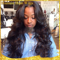 Hot Sale Brazilian Virgin Hair Body Wave Lace Front Wigs Glueless Full Lace Wig A678