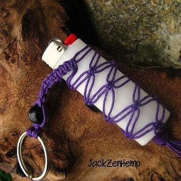 Lighter Cozy Keychain Hemp Macrame Keychain