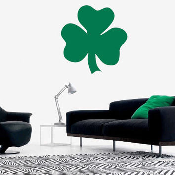 St. Patrick's day 3-leaved shamrock vinyl wall decal