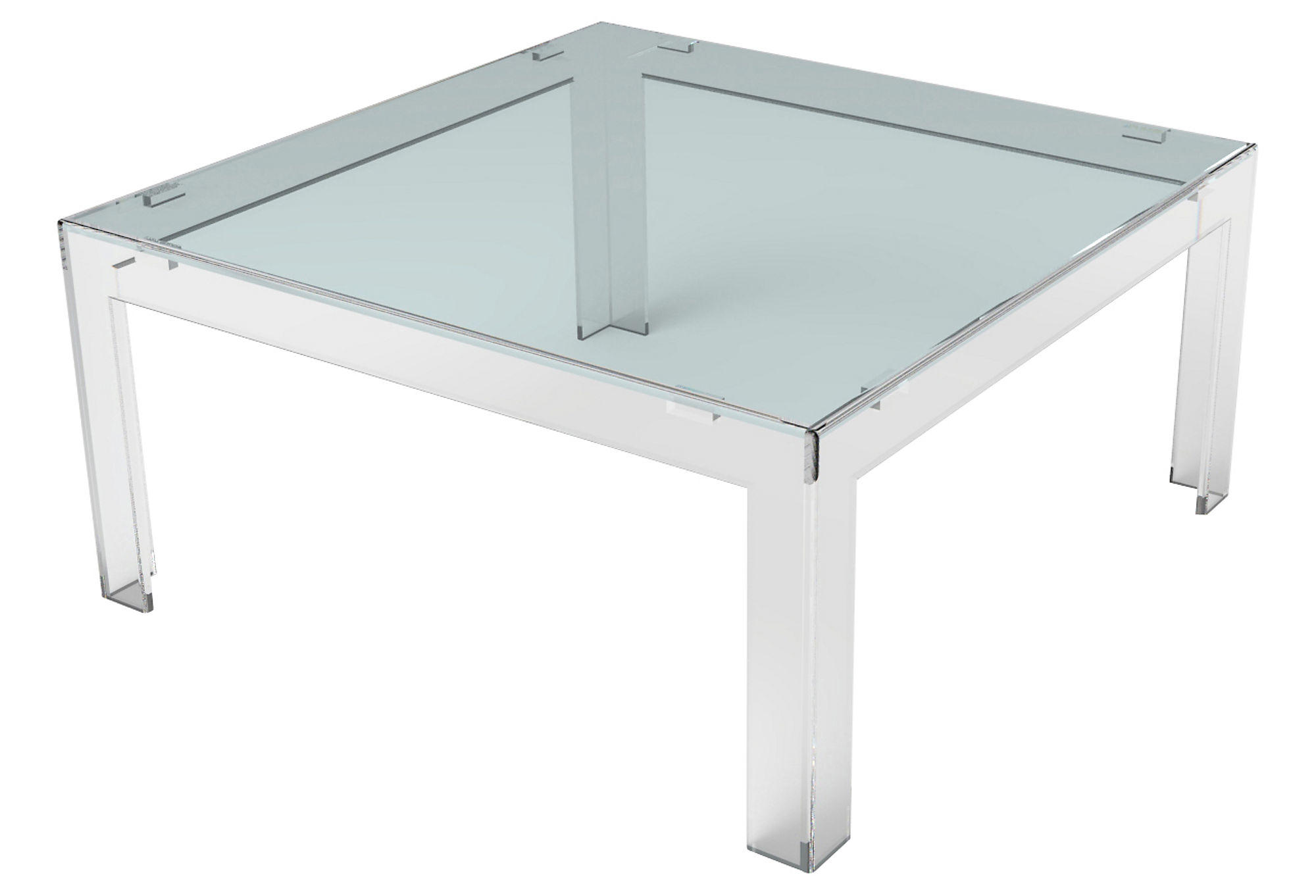 Parsons Square Coffee Table Acrylic From One Kings Lane