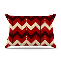 "Nick Atkinson ""Chevron Dance Red"" Pillow Sham"