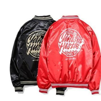 CHINISM Brand High Quality Ma1 Army Military aape Red Varsity Flight Jacket Mens Bomber Pilot US Air Force Men Jacket