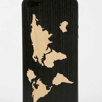 Carved Wood iPhone 5/5s Back-Skin- Washed Black One