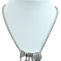 Salon Diva Hair Salon - Hair Dresser - Hair Stylist Bling Hair Dryer & Salon Charm Necklace