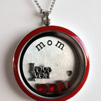 Red Mother's Day Locket Look