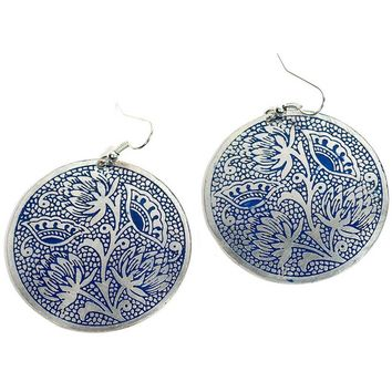 Padma Blue Earrings - Fair Trade