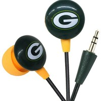 iHip NFF10200GBP NFL Green Bay Packers Mini Ear Buds, Green/Yellow