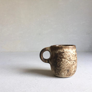 DIRTY BROWN MUG 8 oz, ceramic, pottery, handmade, rustic, coffeemug, coffee mug, cup, handmademug, potterymug, brownmug, sturdy mug