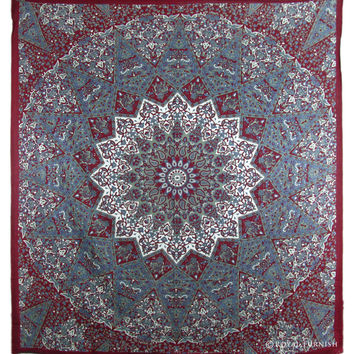 Indian Mandala Hippie Tapestry Throw Wall Hanging Handloom Bedspread Bed Room Home Decorative