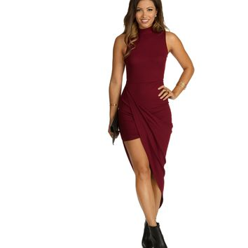 Burgundy Karma Dress