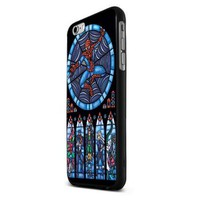 Art Satined Glass Spiderman for Iphone 6 - Black