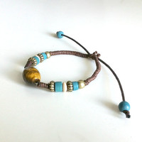 Tigers Eye Tribal Bracelet