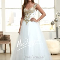 Embellished Straps Sweetheart Prom Ball Gown By Mac Duggal 48195H