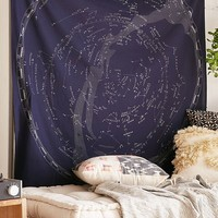 Glow-In-The-Dark Constellation Map Tapestry | Urban Outfitters