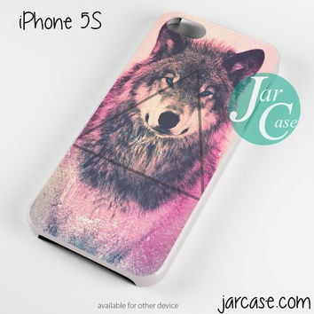 Pink Wolf Triangle Phone case for iPhone 4/4s/5/5c/5s/6/6 plus
