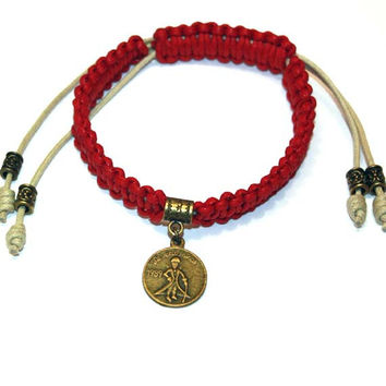 The Little Prince Mens Bracelet - his is the best present you can give him,gift ideas, teen boy, boyfriend, friend, brother, red, macrame