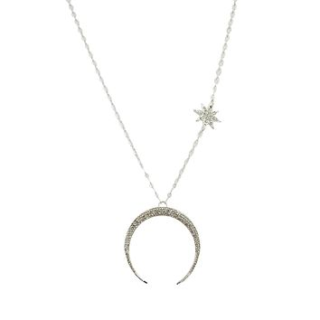 Moonchild Crescent Moon Long chain Pendant Necklace