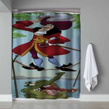 Disney Captain Hook Haunted Mansion Design Custom Shower Curtain Limited Edition