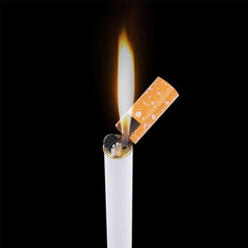 Cigarette- shaped Butane Lighter NO GAS