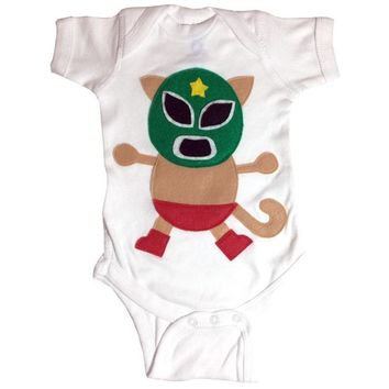 Baby Onesuit - Kitty Luchador - Mexican Wrestler Cat