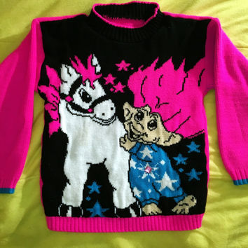 RARE Treasure Trolls pullover sweater