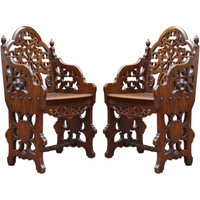 Pair of English Hall Chairs