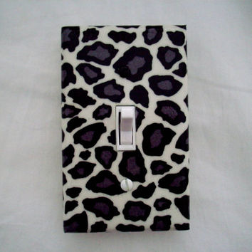 Leopard Print / Light Switch Cover / Animal Print / Switchplate / Switch Plate