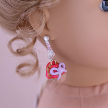 "Dancer's Dreams: Isabelle-Inspired Cupcake Earrings for 18"" American Girl Dolls"