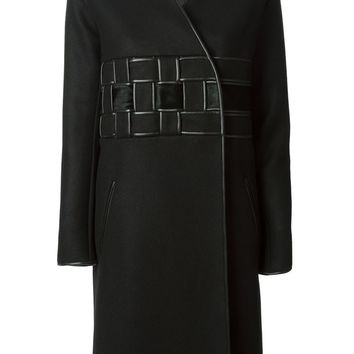 David Koma woven detail coat