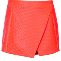 Diamond Texture Skort - Orange