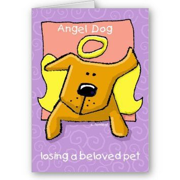 Angel Dog Sympathy Card, Pet Loss from Zazzle.com