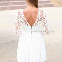 SPLENDED ANGEL 2.0 DRESS , DRESSES, TOPS, BOTTOMS, JACKETS & JUMPERS, ACCESSORIES, 50% OFF SALE, PRE ORDER, NEW ARRIVALS, PLAYSUIT, COLOUR, GIFT VOUCHER,,White,LACE,LONG SLEEVES,MINI Australia, Queensland, Brisbane