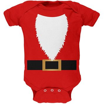 Halloween Santa Claus Costume Soft Baby One Piece