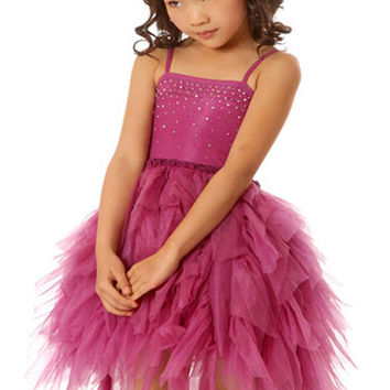 Ooh La La Couture Devin High Low Dress in Radiant Orchid PREORDER