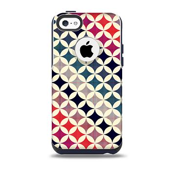 Overlapping Retro Circles Skin for the iPhone 5c OtterBox Commuter Case