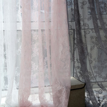 3 Colors 150cm x 180cm Panel Sheer Voile Window Curtain Panel Drape Room Floral Tulle Scarfs Valances Curtains