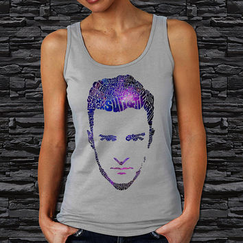 Justin Timberlake Face Typography Galaxy Design Women's Tank Top (Color Available)