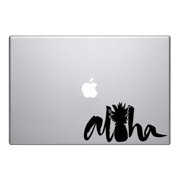 Aloha Pineapple Hawaii Macbook Decal Macbook Sticker Mac Decal Mac Sticker Decal for Apple Laptop Macbook Pro / Macbook Air