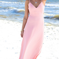 Loose Strap Backless Maxi Dress