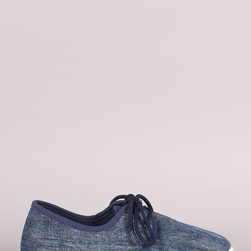 Low Top Lace-Up Denim Sneaker