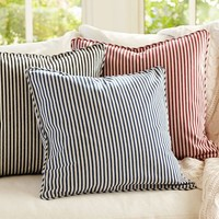 THOMAS TICKING STRIPE PILLOW COVER