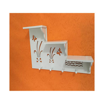 Creative Rack Storage Rack Living Room Wall without Hole Wall Hanging Hat Rack