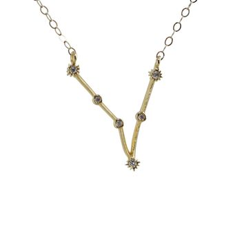 Pisces Constellation CZ Outline Necklace