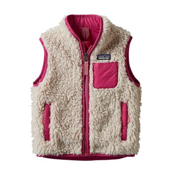 Patagonia, Baby Retro-X Vest, Natural w/ Craft Pink
